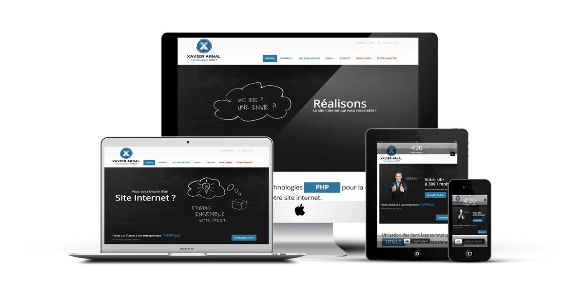 Création de site internet xavier arnal développeur web freelance